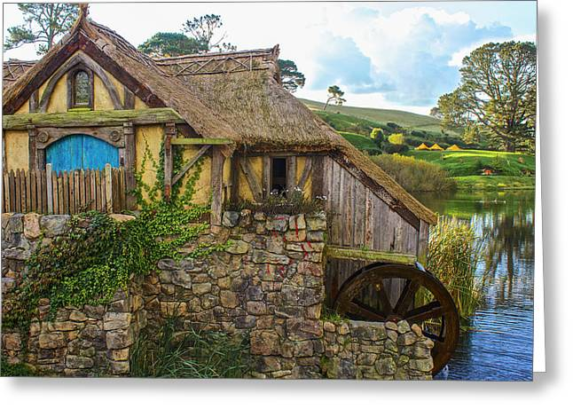 The Watermill, Bag End, The Shire Greeting Card