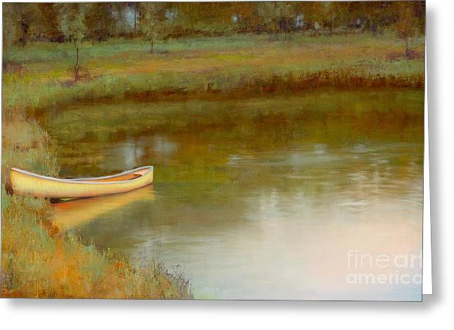 The Water's Edge Greeting Card by Lori  McNee