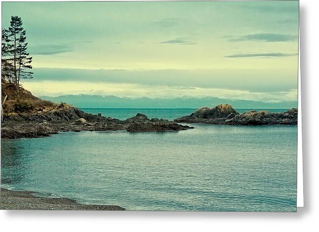 The Waters Of Deception Pass Greeting Card by David Patterson
