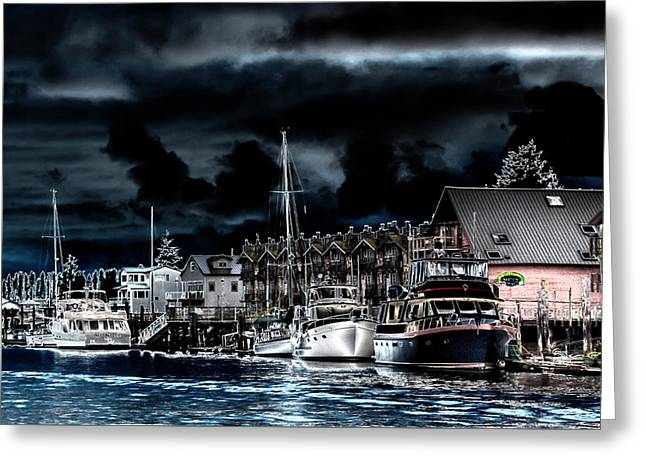 The Waterway In Laconner Washington Greeting Card by David Patterson