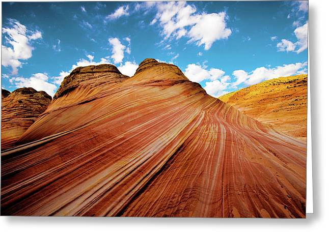 Greeting Card featuring the photograph The Wave Arizona Rocks by Norman Hall