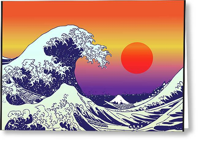The Wave Greeting Card by Gary Grayson