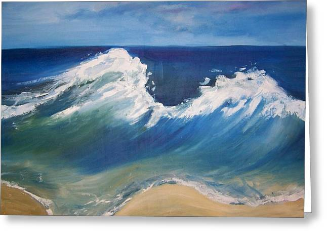 The Wave Greeting Card by Georgeanne Wayman