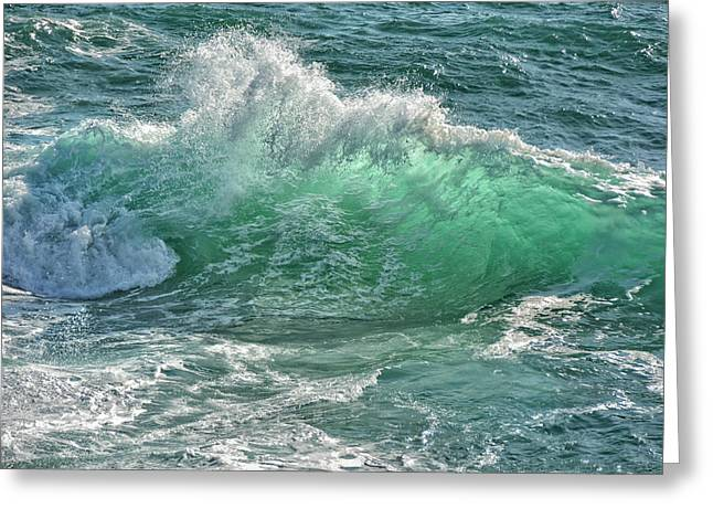 The Wave Greeting Card by Joachim G Pinkawa