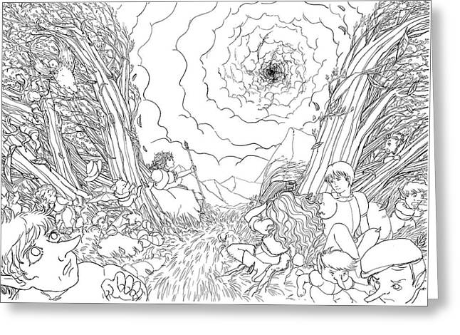 The Wave Of Space And Time Greeting Card by Reynold Jay