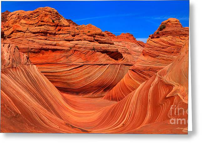The Wave Wide Panorama Greeting Card by Adam Jewell