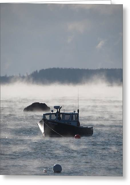Lobsterboat Greeting Cards - The Way Life Should Be Greeting Card by Sarah Burrin