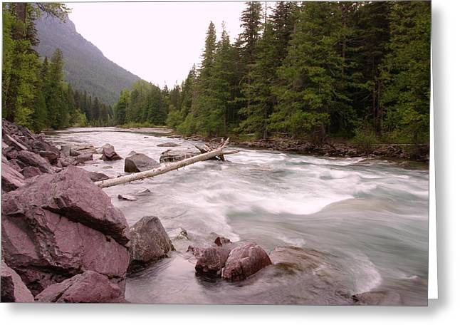 The Way Of A River Greeting Card by Jeff Swan