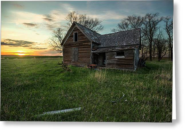 Greeting Card featuring the photograph The Way She Goes by Aaron J Groen