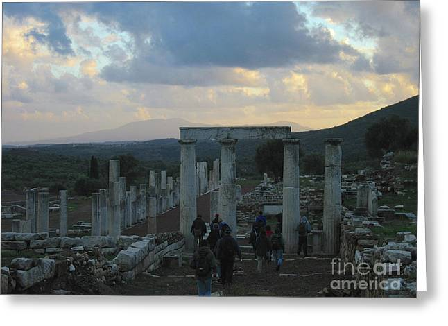 The Way Through Messenia  Greeting Card by Clay Cofer
