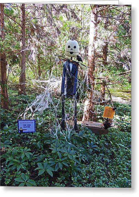 The Web Slayer Scarecrow At Cheekwood Botanical Gardens Greeting Card