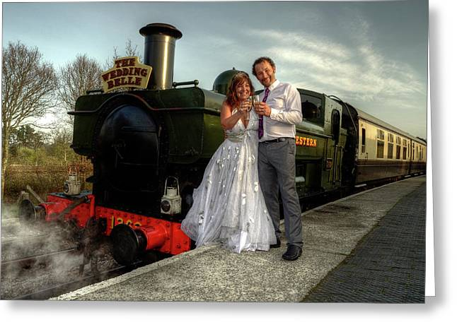 Pannier Greeting Cards - The Wedding Belle Greeting Card by Rob Hawkins