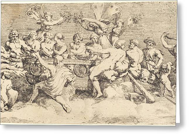The Wedding Feast Of Cupid And Psyche Greeting Card