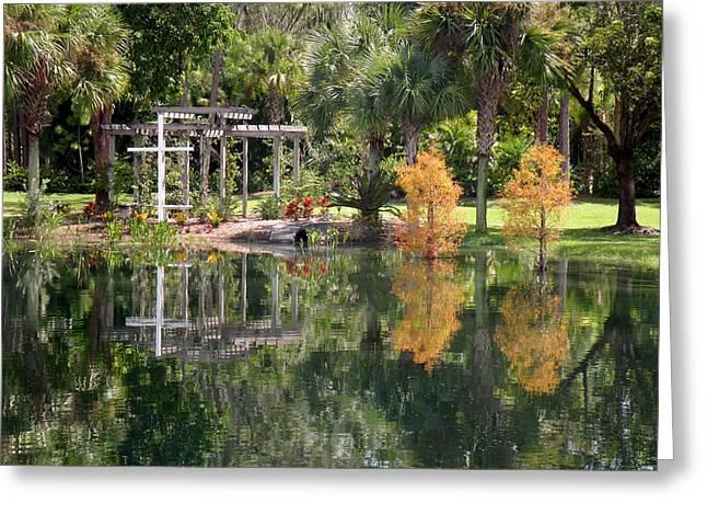 The Wedding Garden Greeting Card by Rosalie Scanlon