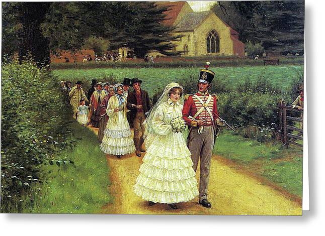 The Wedding March Greeting Card