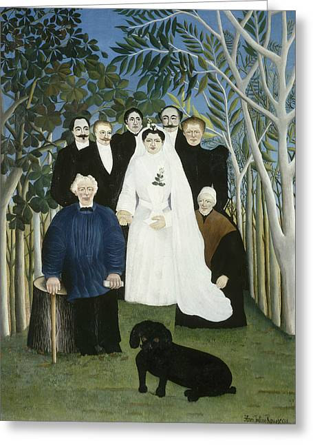 The Wedding Party  Greeting Card by Henri Rousseau