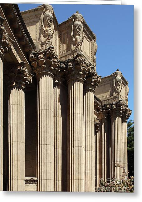 The Weeping Maidens Of The San Francisco Palace Of Fine Arts 5d18127 Greeting Card