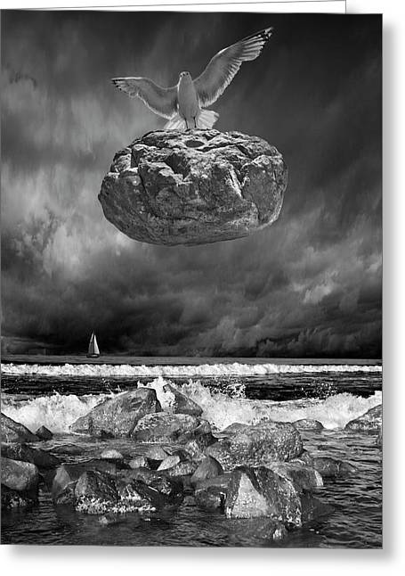 Greeting Card featuring the photograph The Weight Is Lifted by Randall Nyhof