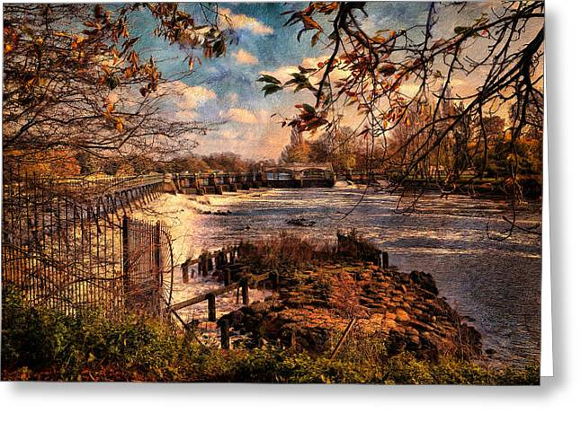 The Weir At Teddington Greeting Card