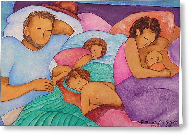 The Wendts Family Bed Greeting Card by Gioia Albano