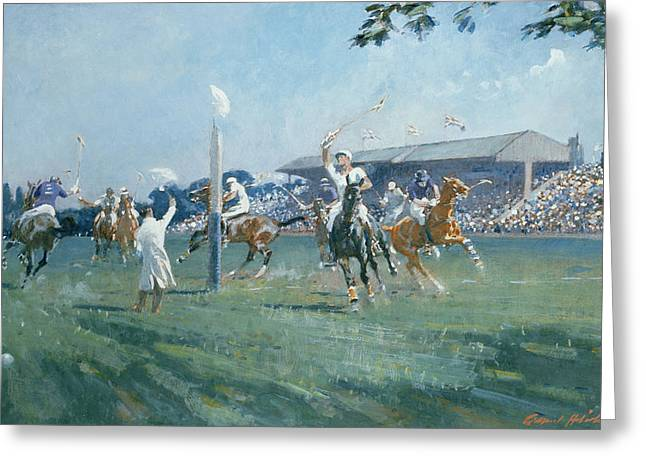 The Westchester Cup Greeting Card by Gilbert Holiday