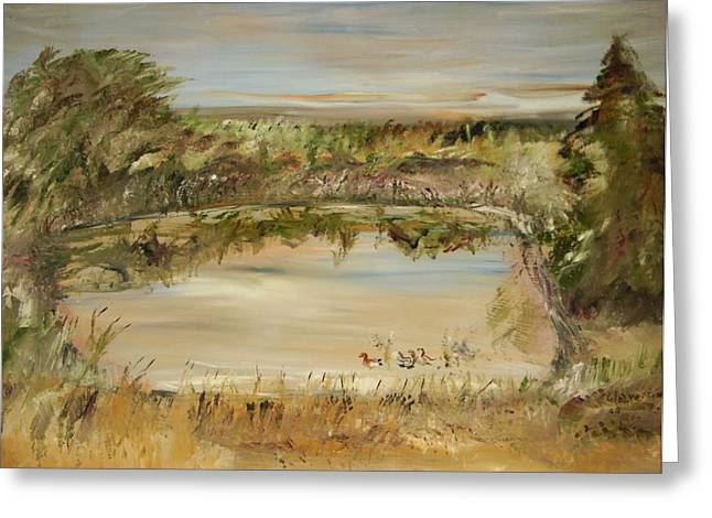 The Westfern Pond Greeting Card by Edward Wolverton