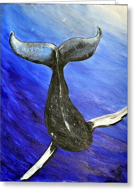 The Whale Greeting Card by Pilar  Martinez-Byrne