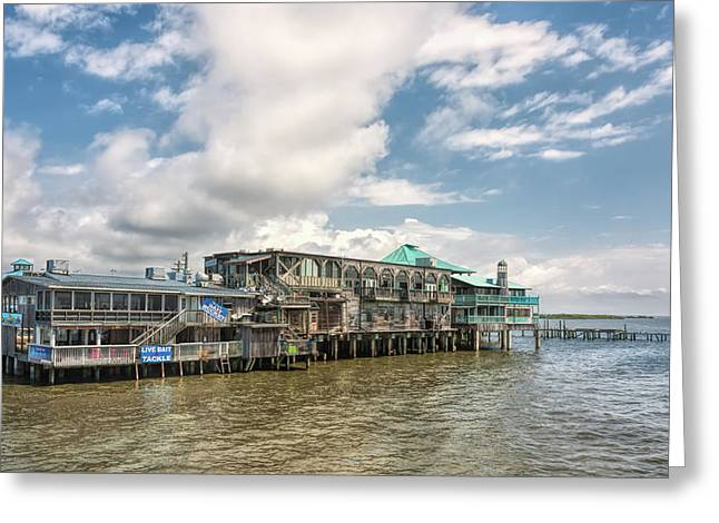 Greeting Card featuring the photograph The Wharf At Cedar Key by John M Bailey
