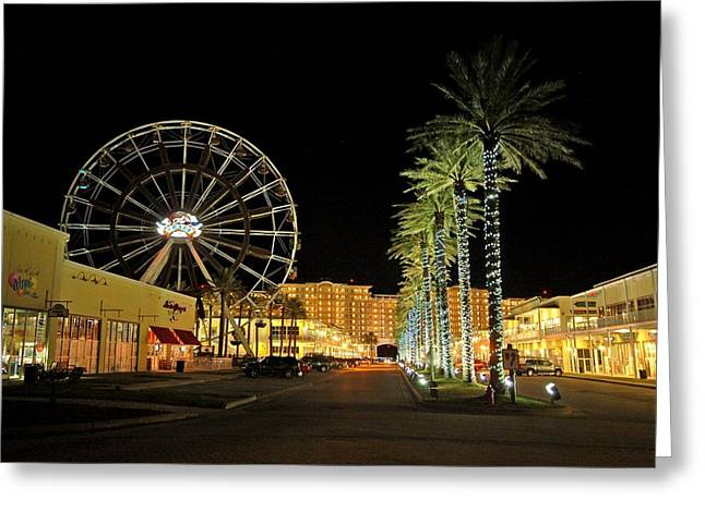 The Wharf At Night  Greeting Card