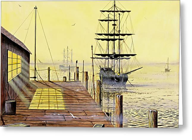 The Wharf Greeting Card