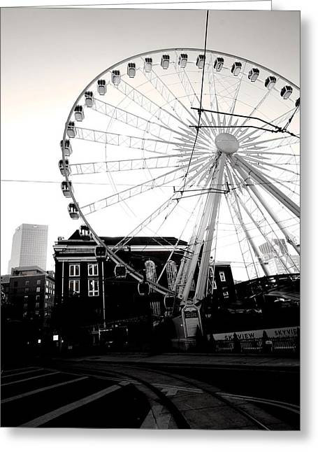 The Wheel Black And White Greeting Card
