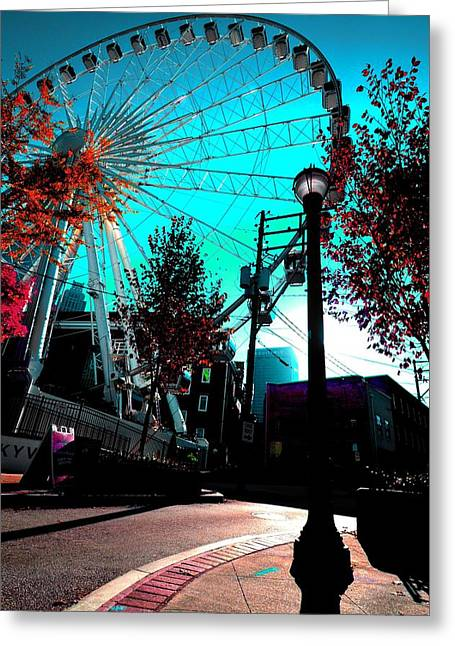 The Wheel Blue Greeting Card