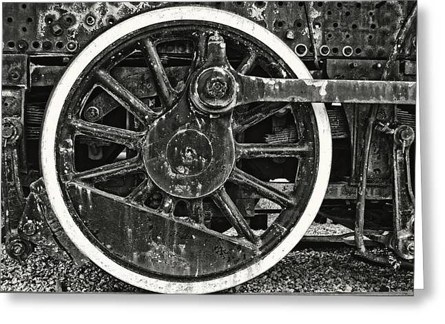 The Wheel In Black And White Greeting Card