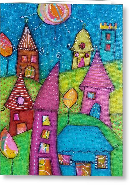 The Whimsical Village - 2 Greeting Card