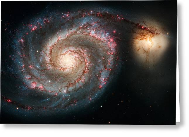 The Whirlpool Galaxy Greeting Card by Marco Oliveira