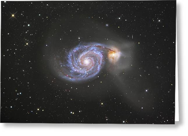 The Whirlpool Galaxy Greeting Card by Robert Gendler