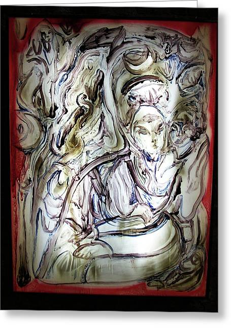 The Whisperer Greeting Card by Dean Cercone