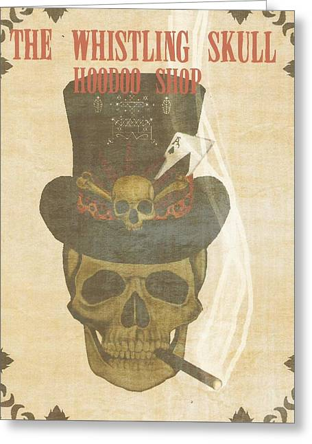 The Whistling Skull Greeting Card