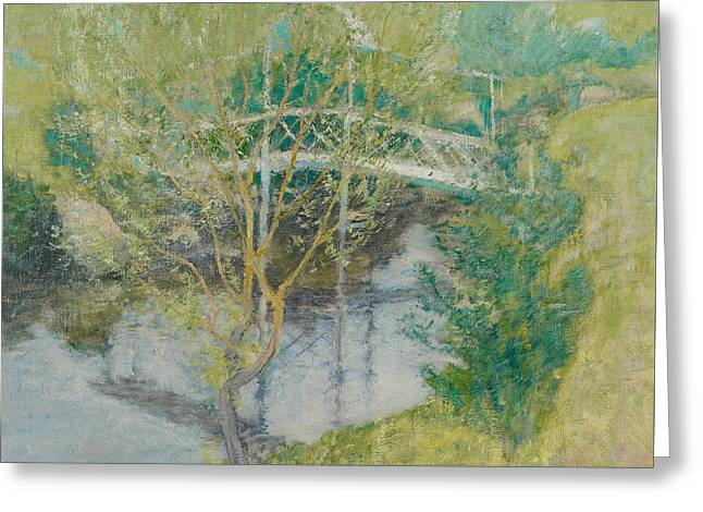 The White Bridge Greeting Card by John Henry Twachtman