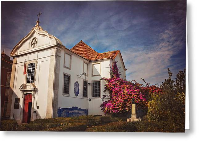 The White Church Of Santa Luzia Greeting Card by Carol Japp