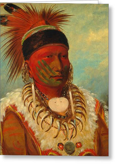 The White Cloud, Head Chief Of The Iowas Greeting Card