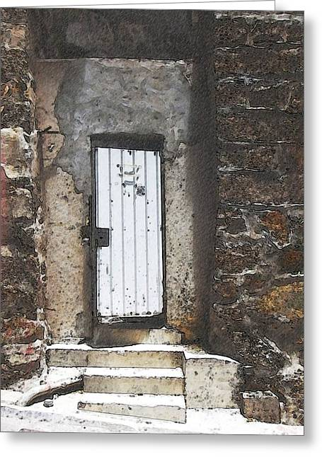 The White Door Greeting Card by Suze Moll