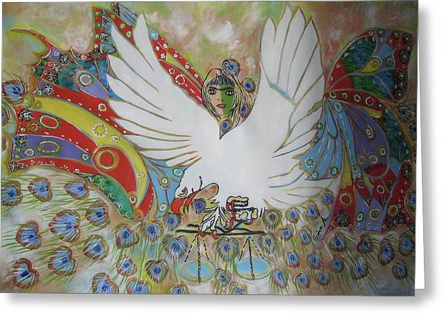 The White Eagle Greeting Card