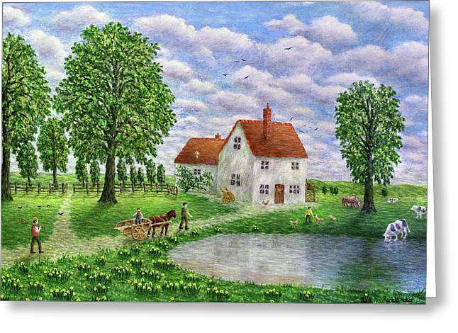 The White Farm - Lake District Greeting Card by Ronald Haber