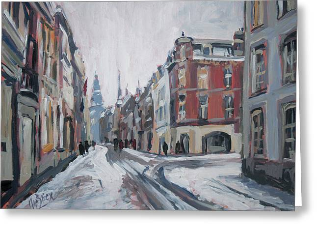 The White Grand Canal Street Maastricht Greeting Card by Nop Briex