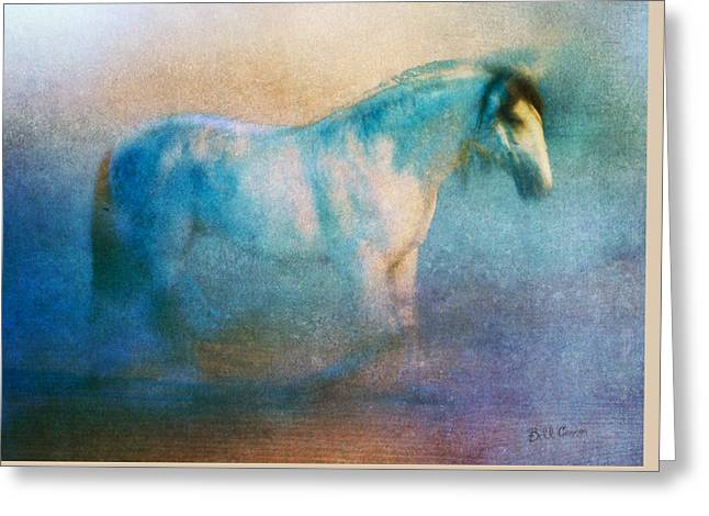 The White Horse Greeting Card by Bill Cannon