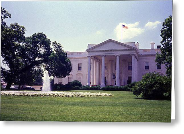 The White House Front Lawn Greeting Card by Richard Singleton