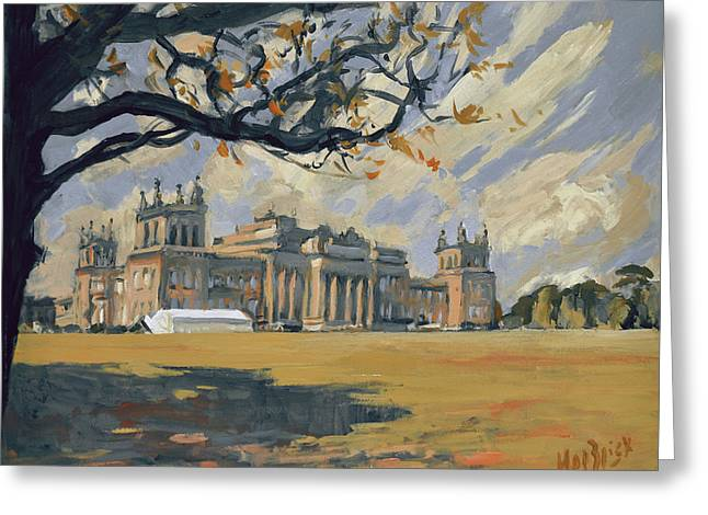 The White Party Tent Along Blenheim Palace Greeting Card