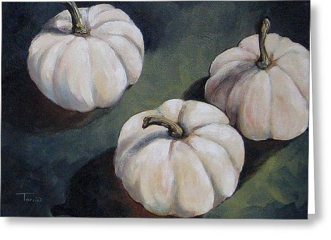 The White Pumpkins Greeting Card