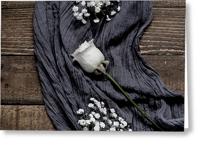 Greeting Card featuring the photograph The White Rose by Kim Hojnacki